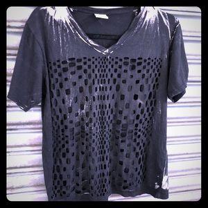Tops - Cutout black Tee shirt